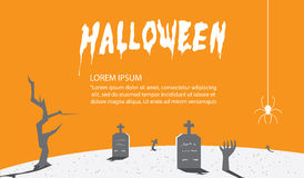 Halloween Signs of orange for content With a background as a tom. Illustration vector halloween Signs of orange for content With a background as a tomb flat Royalty Free Stock Photo