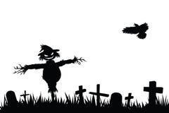 Halloween silhouette Stock Image