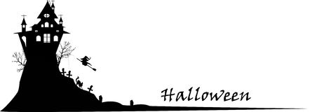 Halloween silhouette background Royalty Free Stock Images