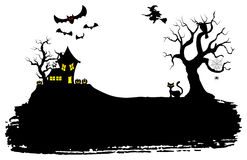 Halloween silhouette background Royalty Free Stock Photography