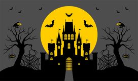Halloween, castle. Vector illustration. Halloween, silhouette of a fairytale castle. Vector illustration vector illustration