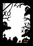 Halloween silhouette frame Stock Photos