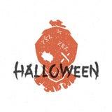 Halloween silhouette scarecrow head Stock Image
