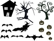 Halloween silhouette set Stock Photo
