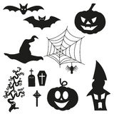 Halloween Silhouetten - Set. Vector eps10 Stock Photo