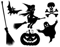 Halloween silhouettes. Stock Image