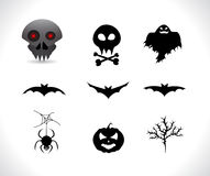 Halloween silhouettes Royalty Free Stock Photography