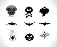 halloween silhouettes Royaltyfri Fotografi