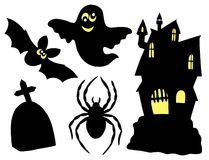 Halloween silhouettes collection Stock Images