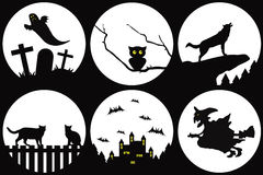Halloween silhouettes Royalty Free Stock Photo