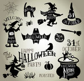Halloween silhouettes Royalty Free Stock Photos