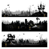 Halloween silhouettes Royalty Free Stock Photos