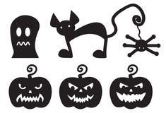 Halloween siluetea a monstruos Imágenes de archivo libres de regalías