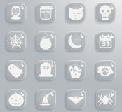 Halloween simply icons. Halloween simply symbol for web icons and user interface Stock Photography