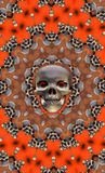 halloween skalle vektor illustrationer