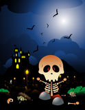 Halloween skeleron vector Royalty Free Stock Image