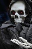 Halloween skeleton. Grim reaper, scary halloween skeleton stock photo