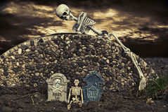Halloween Skeleton Stock Images