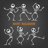 Halloween skeleton with assorted expressions. Royalty Free Stock Images