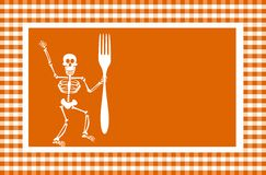 Halloween Skeleton Background Royalty Free Stock Photos
