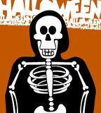 Halloween Skeleton Background. Greeting Card Royalty Free Stock Photos