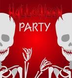 Halloween skeleton background Royalty Free Stock Photo