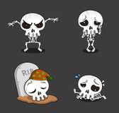 Halloween Skeleton cartoon action set 2 Stock Image