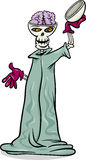 Halloween skeleton cartoon illustration Royalty Free Stock Photo