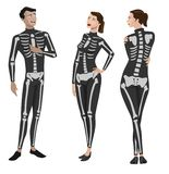 Halloween Skeleton Costumes Royalty Free Stock Images