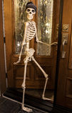 Halloween Skeleton Greeting at the Door Stock Photo