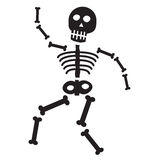 Halloween Skeleton Stock Photo