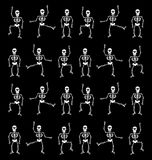 Halloween Skeleton Pattern. Black Background Stock Images