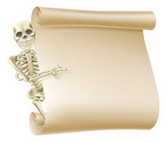 Halloween Skeleton Scroll Royalty Free Stock Images