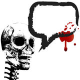 Halloween skeleton speech bubble blood Royalty Free Stock Photography