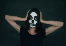 Halloween skeleton woman Stock Photos