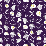 Halloween skeletons pattern 04 Royalty Free Stock Photo