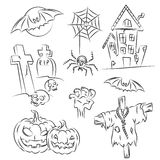 Halloween Sketch Set Royalty Free Stock Image