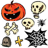 Halloween sketch set Stock Photography