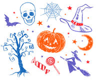 Halloween sketches. Stock Photography