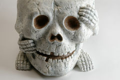 Halloween skull Stock Images