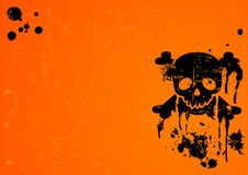 Halloween Skull background Royalty Free Stock Photos