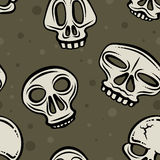 Halloween Skull Background Stock Photography