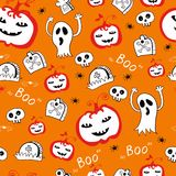 Halloween skull background pattern in vector Stock Photography