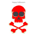 Halloween skull in the background Stock Photos