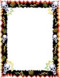 Halloween Skull Border Stock Photo