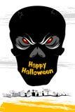 Halloween Skull Card Stock Photography