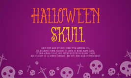 Halloween skull card style collection. Vector illustration Royalty Free Stock Photo