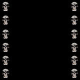 Halloween Skull Frame Royalty Free Stock Photo
