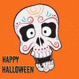 Halloween skull. Stock Photo
