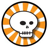 Halloween skull icon. An illustration of a round skull icon for Halloween, isolated on a white background royalty free illustration